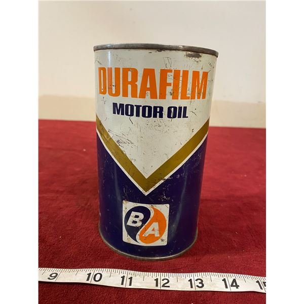BA Dura Film Motor Oil Tin Empty