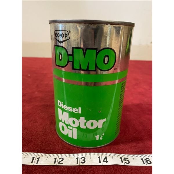 Co-op Diesel Motor Oil Tin Empty (Nice)