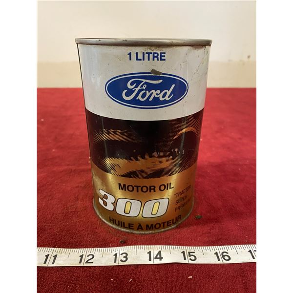 Ford 300 Motor Oil Tin Full (Nice)