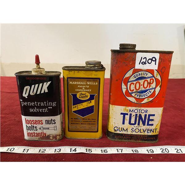(3) Tins (Quik) (Marshall-Wells) (Co-op)