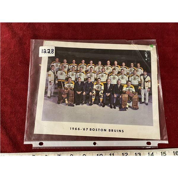 1966-1967 Boston Bruins Photo Original 10x8