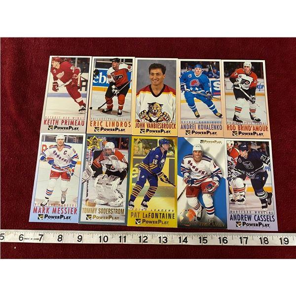 (10) 1993 Hockey Cards (Tall Boys)