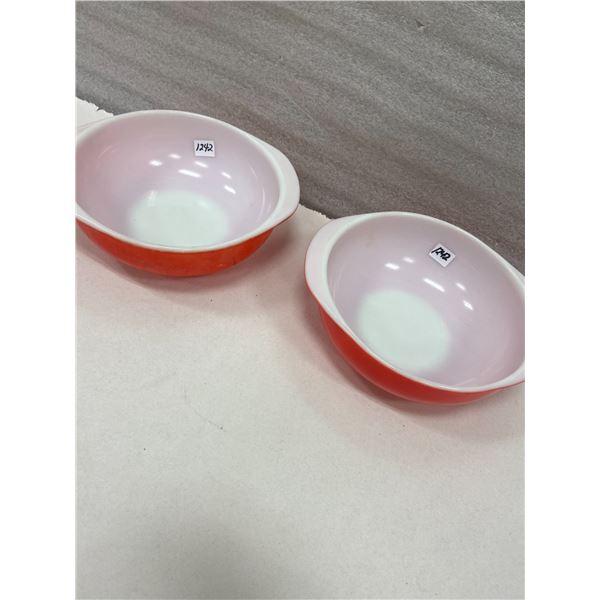 """2 9"""" Pyrex bowls"""