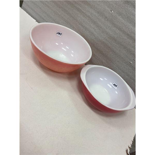"""1 Pyrex bowls, 9"""" & 10"""""""
