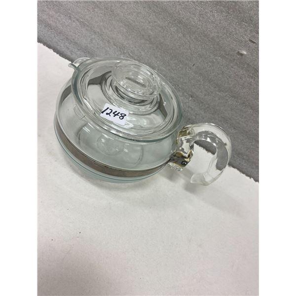 Pyrex glass tea pot & lid