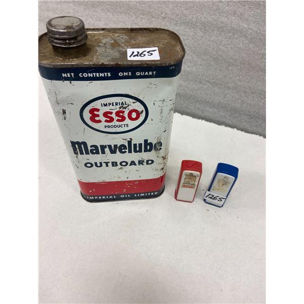 Esso tin and Esso Salt & Pepper