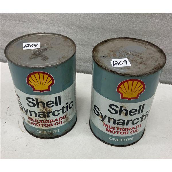 2 Shell oil tins full - Synartic