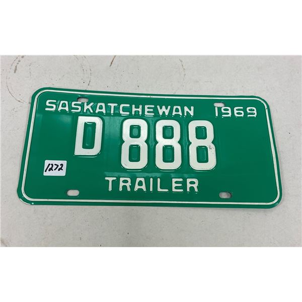 1969 Sask license plate low digits 888