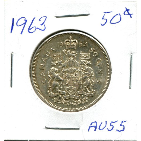 Silver 50 Cent Coin 1963 au55