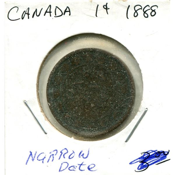 Large One Cent 1888 Coin
