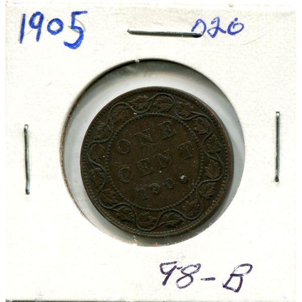Large One Cent 1905 Coin