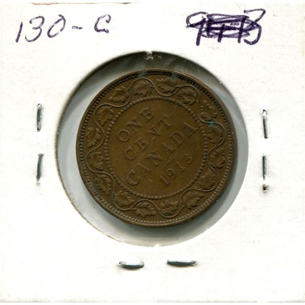 Large One Cent 1913 Coin