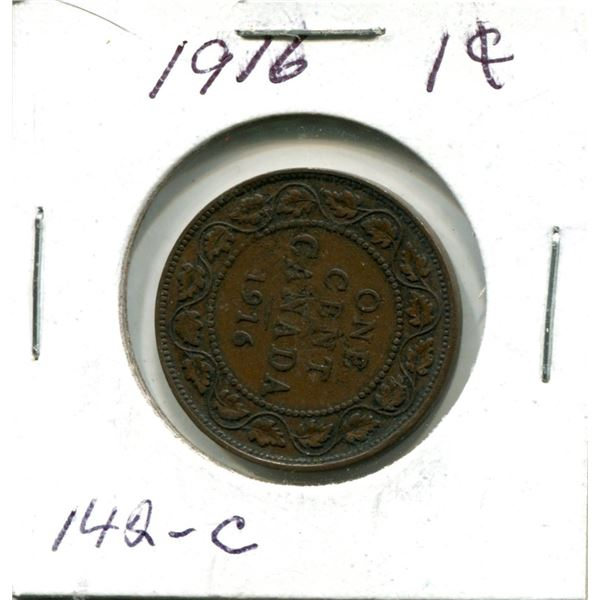 Large One Cent 1916 Coin