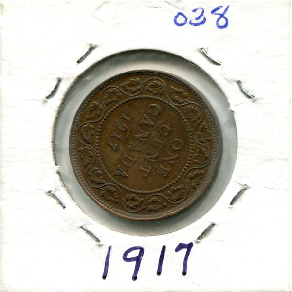 Large One Cent 1917 Coin