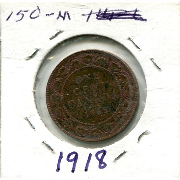 Large One Cent 1918 Coin