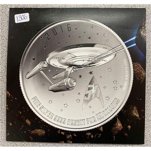 Sterling Silver Star Trek Enterprise Coin