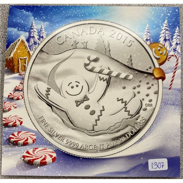 Sterling Silver Ginger Bread Man Coin