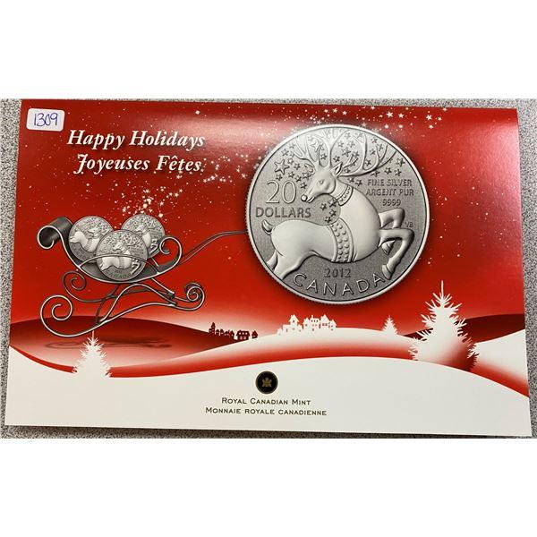 Sterling Silver Reindeer Coin