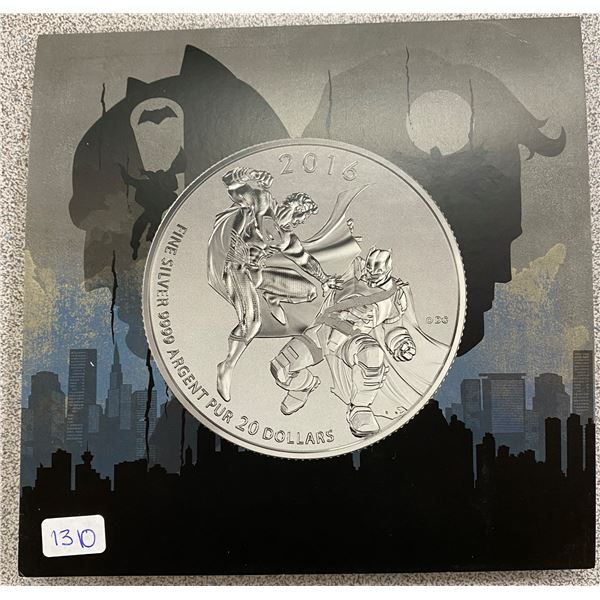 Sterling Silver Superman Vs Batman Coin