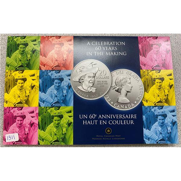 Sterling Silver Diamond Jubilee (Queen) Coin