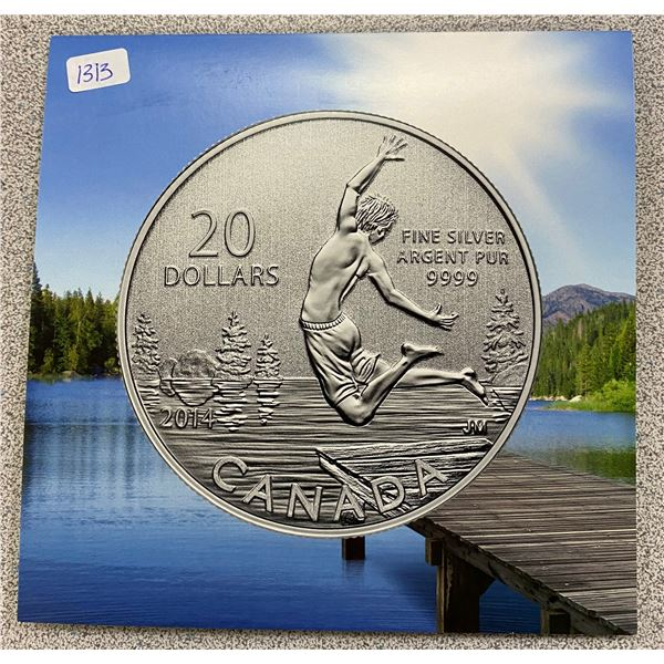 Sterling Silver Summer Time Coin