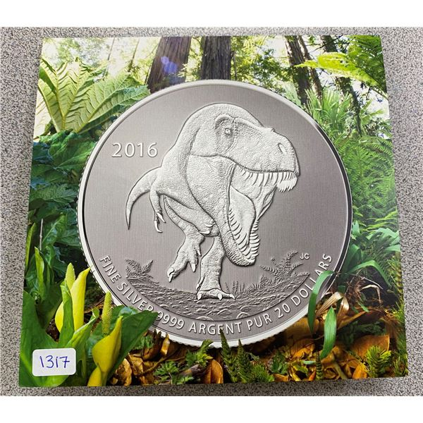 Sterling Silver Tyrannosaurus Coin