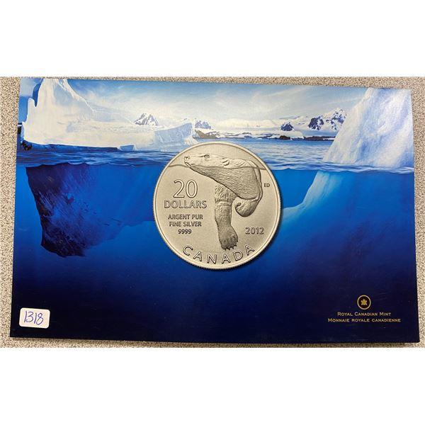 Sterling Silver Polar Bear Coin