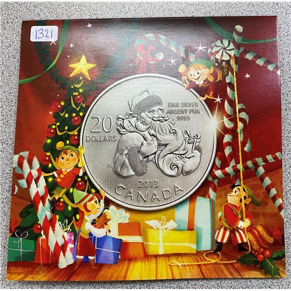Sterling Silver Santa Coin