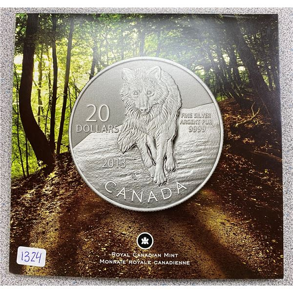 Sterling Silver Wolf Coin