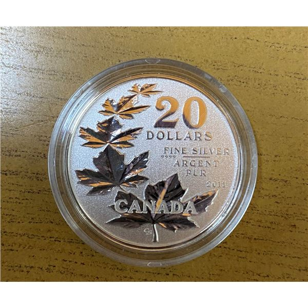 Sterling Silver Maple Leaf's Coin