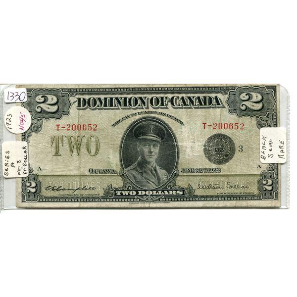 1923 Dominion of Canada $2.00 Two Dollar - rare
