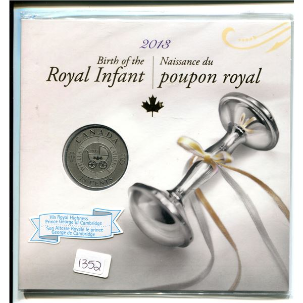 2013 Birth of the royal infant 25¢