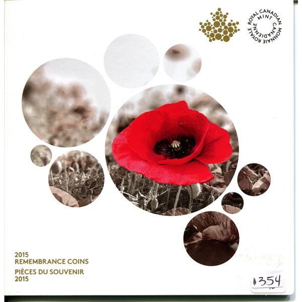 2015 Royal Canadian Mint Rememberance coin set