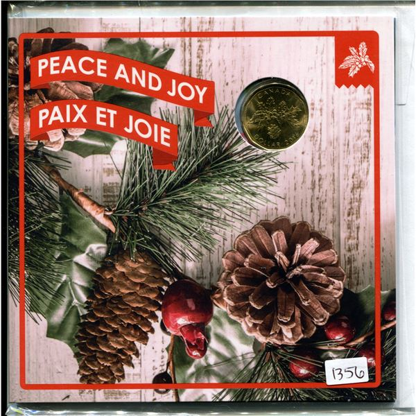 Peace & Joy Royal Canadian Mint 2016 loonie