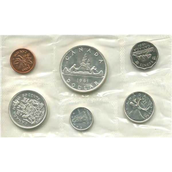 1961 Canadian Proof Set Coins