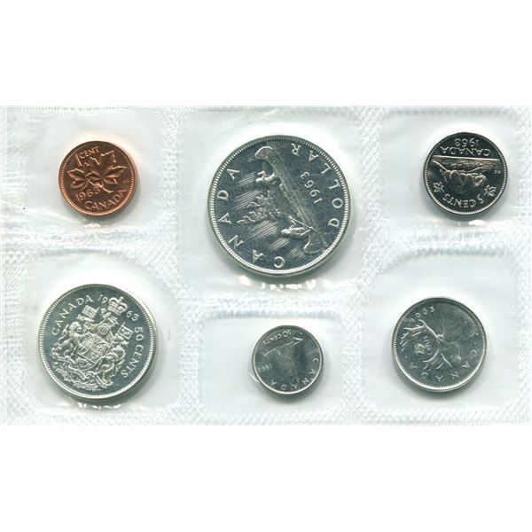 1963 Canadian Proof Set Coins