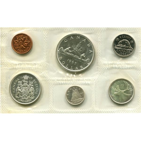 1965 (L.Beads) Canadian Proof Set Coins (Blunt 5)
