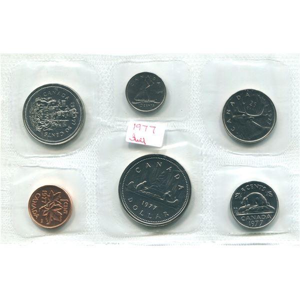 1977 (J.W.L Detach J.) Canadian Proof Set Coins
