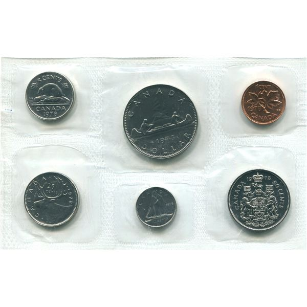 1978 (Round J.) Canadian Proof Set Coins