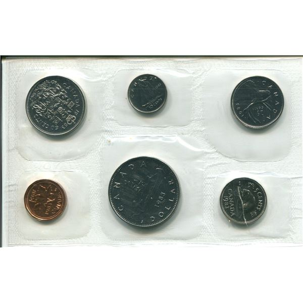 1983 Canadian Proof Set Coins