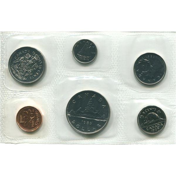 1985 (Pliofilm) Canadian Proof Set Coins