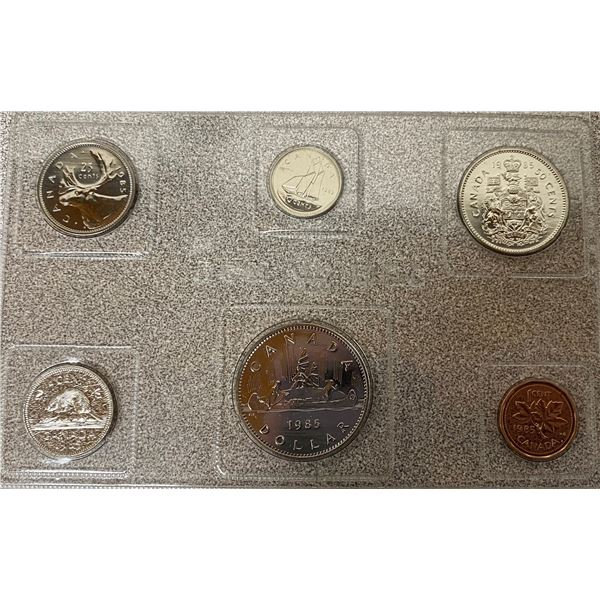 1985 (Plastic) Canadian Proof Set Coins