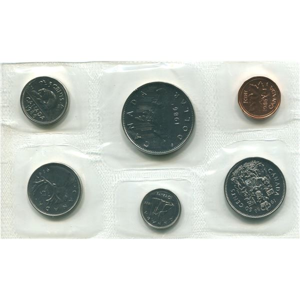 1986 Canadian Proof Set Coins