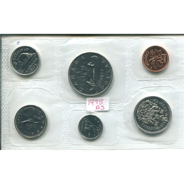1975 (Attach J.) Canadian Proof Set Coins