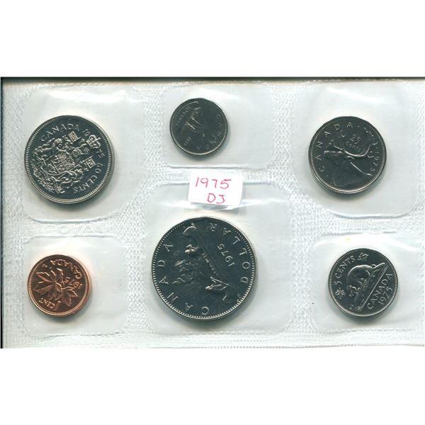1975 (Detach J.) Canadian Proof Set Coins