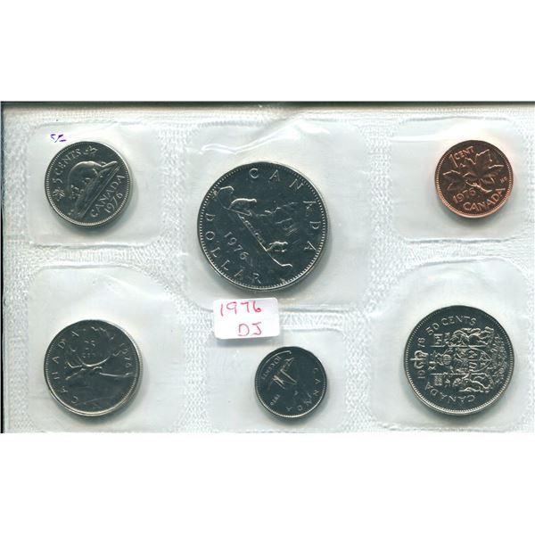 1976 (Detach J.) Canadian Proof Set Coins