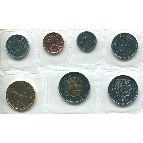 2006 Churchill Canadian Proof Set Coins