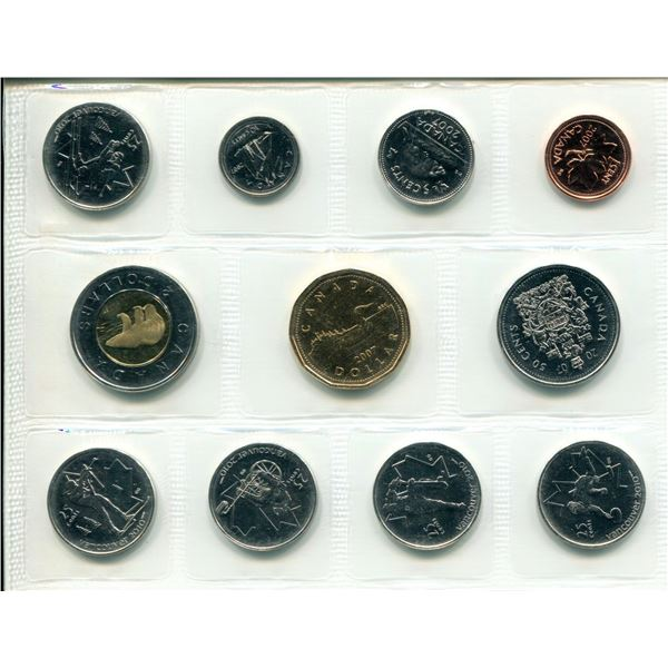 2007 Olympic Canadian Proof Set Coins
