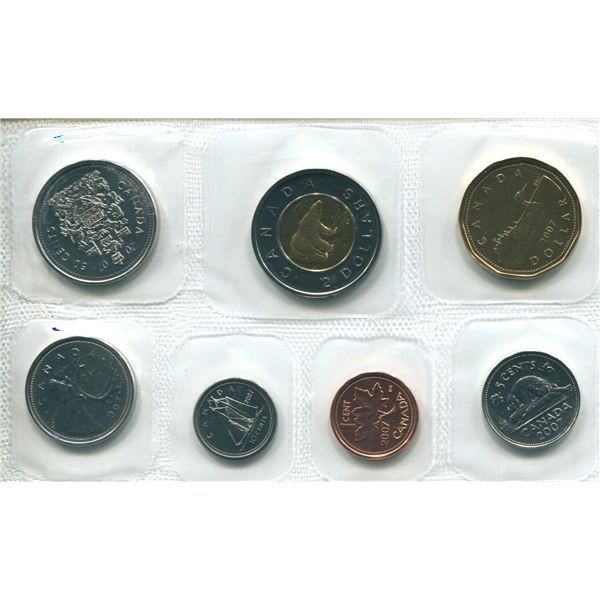 2007 (S.Logo C7) Canadian Proof Set Coins