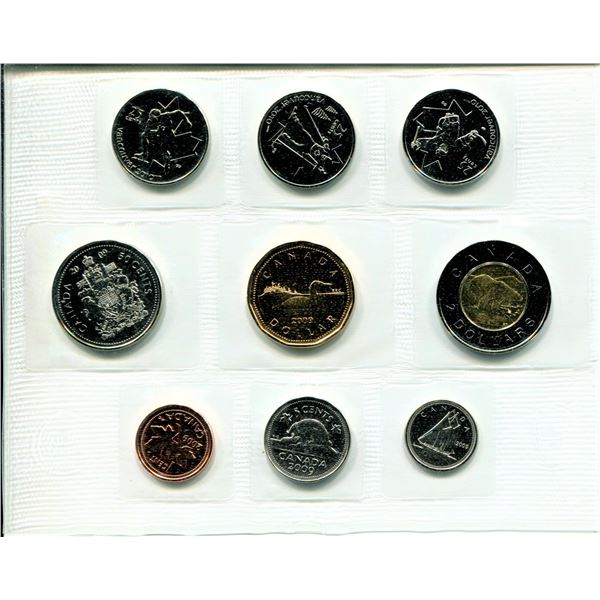 2009 Olympic Canadian Proof Set Coins
